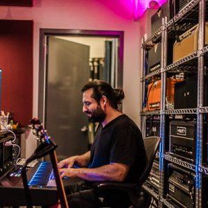 Matt Salazar Playing The Keyboards At IFMG Studios
