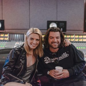 Morgan St. Jean With Lucas Flood At IFMG Studios